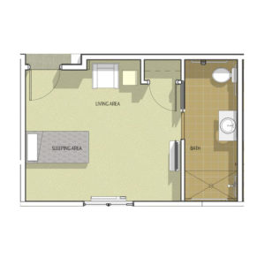 Memory Care Studio I Floor Plan