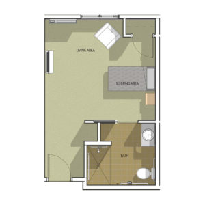 Memory Care Studio II Floor Plan