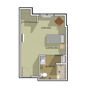 Memory Care Prairie Studio Floor Plan