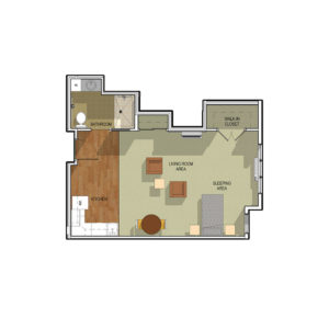 Waunakee Prairie Studio Floor Plan