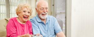 Senior Couple Video Game