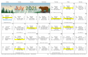 Columbus Assisted Living July Activity Calendar