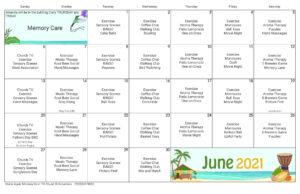 Columbus Memory Care June Activity Calendar