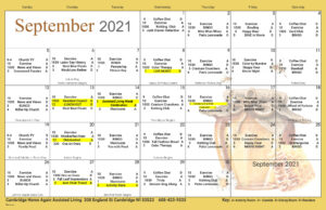 Cambridge Assisted Living September Activity Calendar